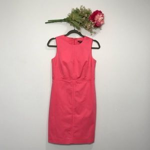 Ann Taylor | Coral Sheath Dress with Zipper Side